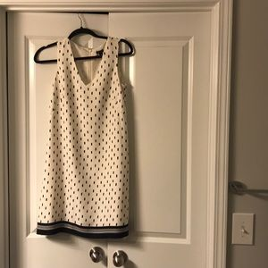 Ann Taylor Navy and White Dress Size 2